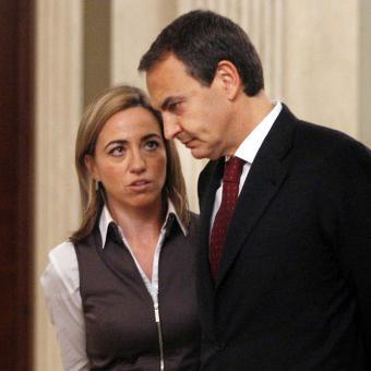 Zapatero y Chacón en una reunión en 2009 - Foto: El País